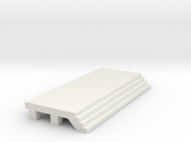 Straight Platform - No Shelter in White Natural Versatile Plastic