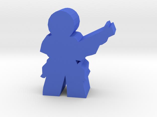 Game Piece, Militia Scout Ted in Blue Processed Versatile Plastic