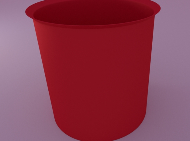 Spherical Planter1 (floral Patterned) Inner Pot 3d printed render