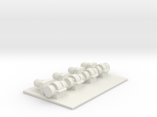 1/144 Scale Boat Winches (4)