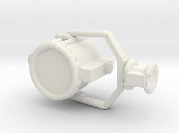 1/96 Scale USN 24 Inch Searchlight in White Natural Versatile Plastic