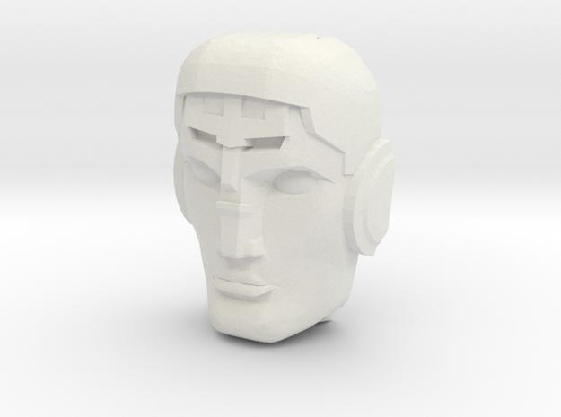 Avatar of the God-Gun Destro Face (Titans Return) in White Natural Versatile Plastic