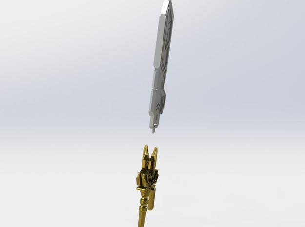 Astral Sword 3d printed Pre-Assembly