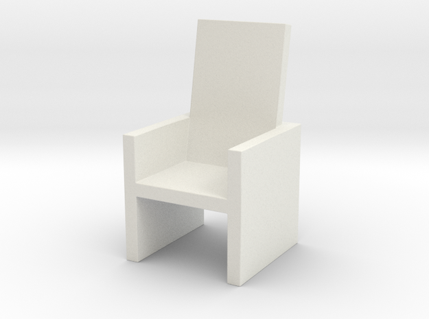 2x2 Cm Chair in White Strong & Flexible