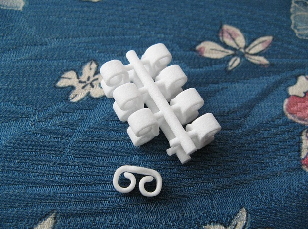 Butterfly Retainers x8, for Ear Studs (Plastic) in White Strong & Flexible Polished