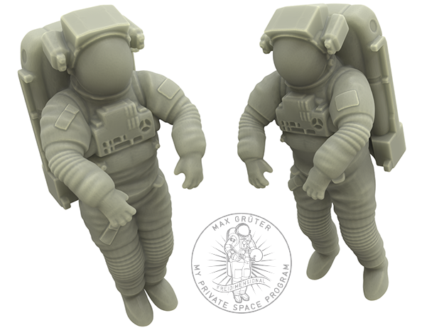 NASA Astronaut EMU (1:48 Double Pack) in White Strong & Flexible