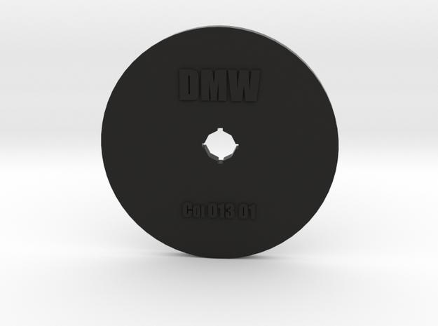 Clay Extruder Die: Coil 013 01 in Black Natural Versatile Plastic