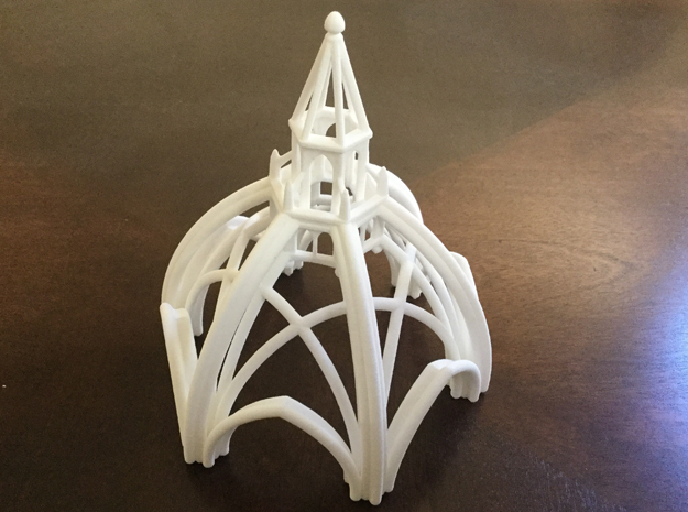 Gothic Chapel 1 Upper in White Natural Versatile Plastic