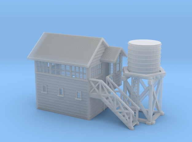 NZR Signal Box and Water Tower NZ120 in Smooth Fine Detail Plastic
