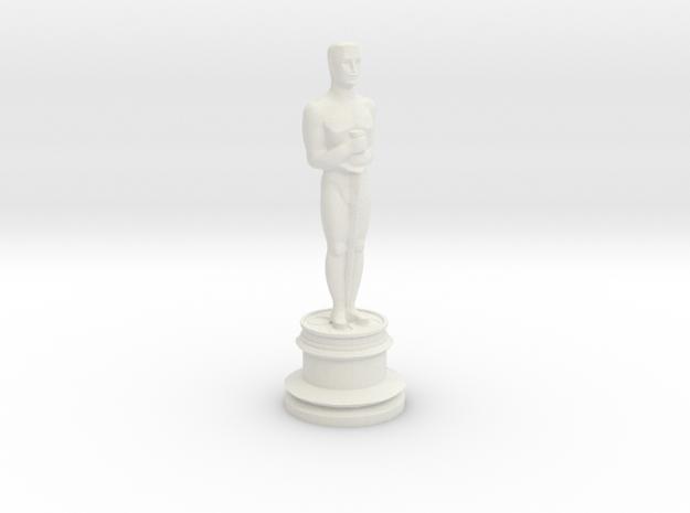 Oscar Trophy in White Natural Versatile Plastic