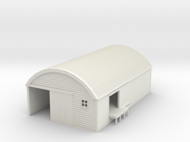 NZR 30' by 50' Curved Roof Goods Shed NZ120 in White Strong & Flexible