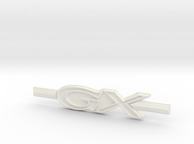 "Immortan Joe ""GX"" Shin Badge / Emblem in White Processed Versatile Plastic"