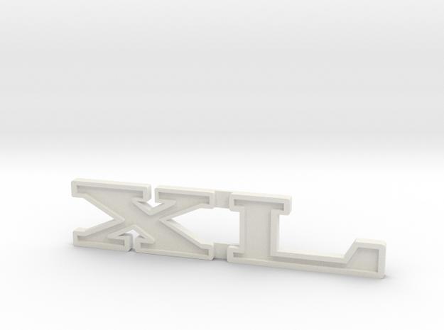 "Immortan Joe ""XL"" Shin Badge / Emblem in White Natural Versatile Plastic"