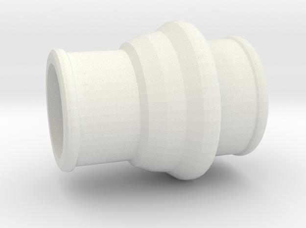 Immortan Joe Gas Mask Hose Connector in White Natural Versatile Plastic