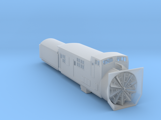 Railroad SnowPlow With Tender - Zscale in Smooth Fine Detail Plastic