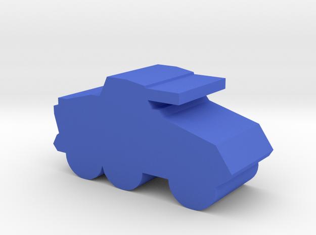 Game Piece, WW2 Light Apc in Blue Processed Versatile Plastic