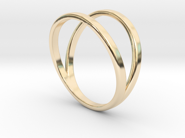 Split Ring Size 13 in 14k Gold Plated Brass
