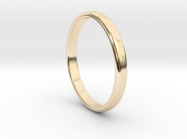 Ring Band Size 12 in 14k Gold Plated Brass