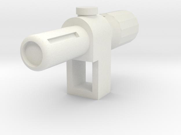 TR Megatron Cannon in White Natural Versatile Plastic