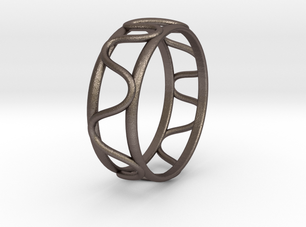 free form in Polished Bronzed Silver Steel