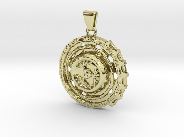 Rueda Necklace in 18k Gold Plated Brass