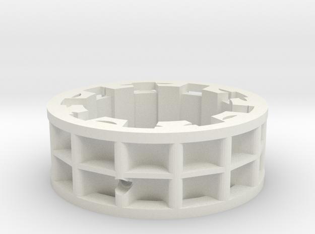 Carbon drive cog, 14 teeth, hyperglide splines in White Natural Versatile Plastic