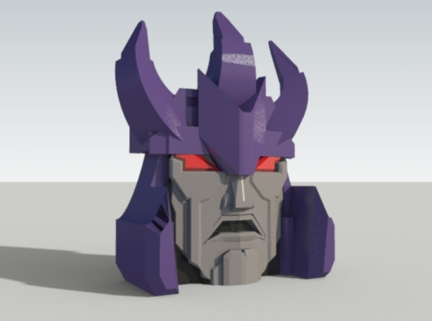 Maniac Tyrant Faceplate in Purple Processed Versatile Plastic