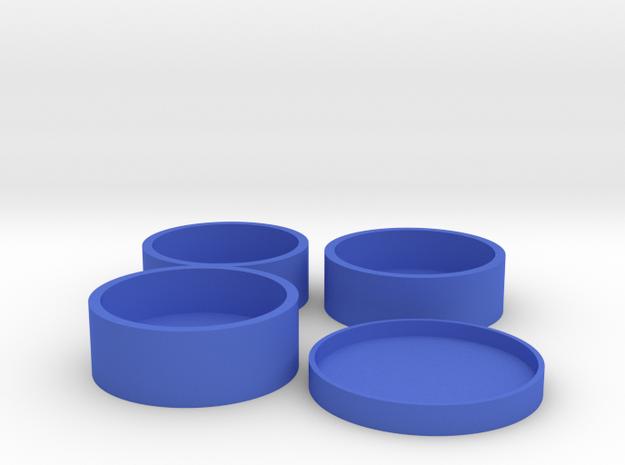 O-Korto Set USA Half Dollar in Blue Processed Versatile Plastic