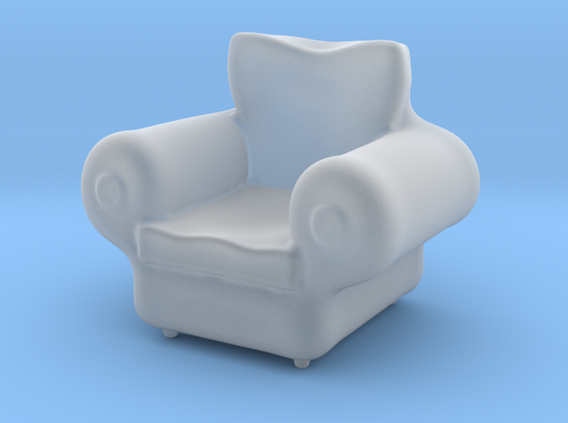 Armchair - Dollhouse 1/48 and 1/12 Scale in Smooth Fine Detail Plastic: 1:48