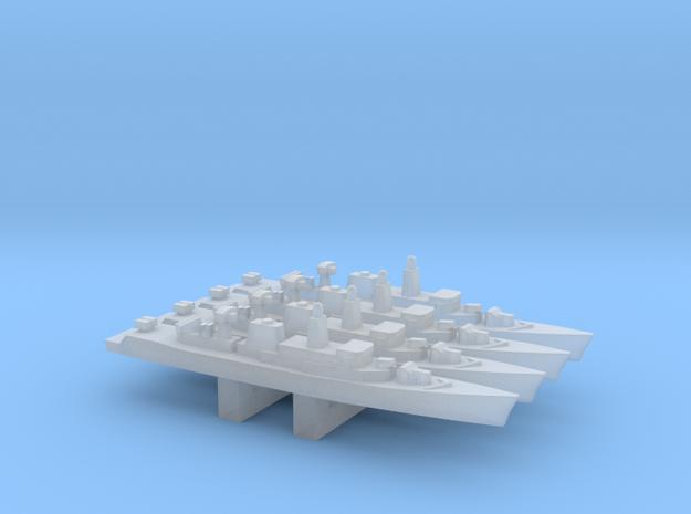 Wielingen-class frigate x 4, 1/6000 in Smooth Fine Detail Plastic