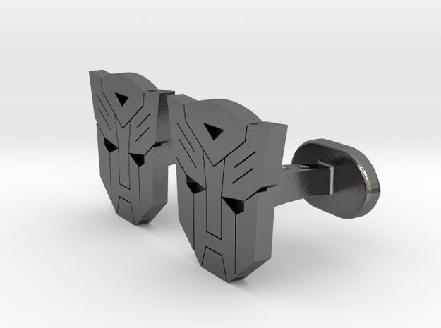 Avv Cufflinks in Polished Nickel Steel