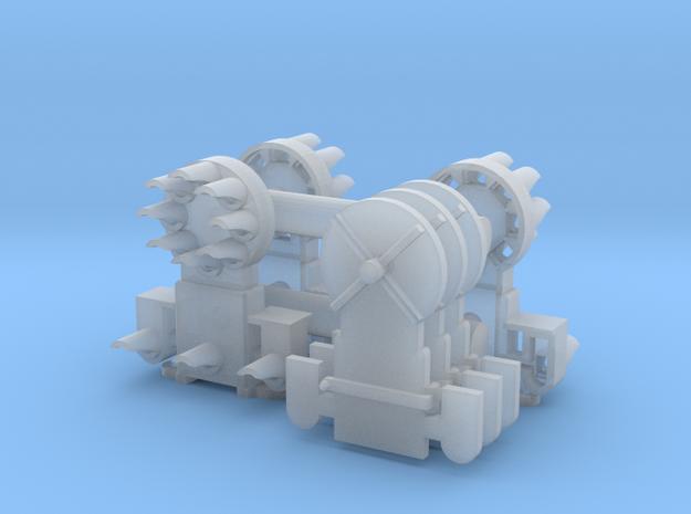 Dwarf B&O CPL-LowerSpdLamps-GndBrkt(3) - HO 87:1 in Smooth Fine Detail Plastic
