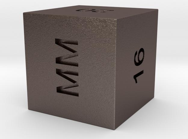 Georgia Guidestone Cube - Illuminati  / masonic  in Polished Bronzed Silver Steel