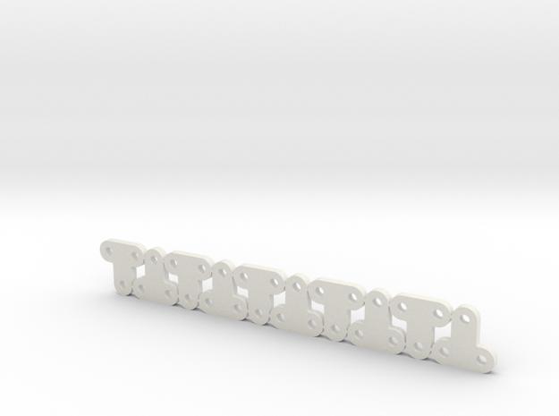 Lüfterhalter 3x 4mm N10 V1 in White Natural Versatile Plastic