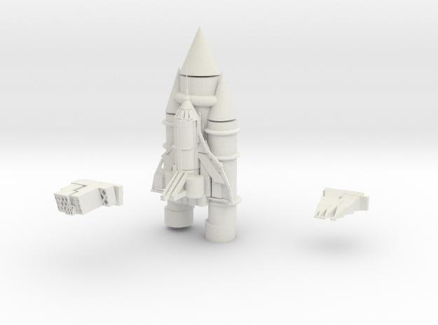 Space Shuttle in White Natural Versatile Plastic