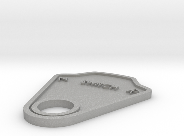 Switch Plate in Aluminum