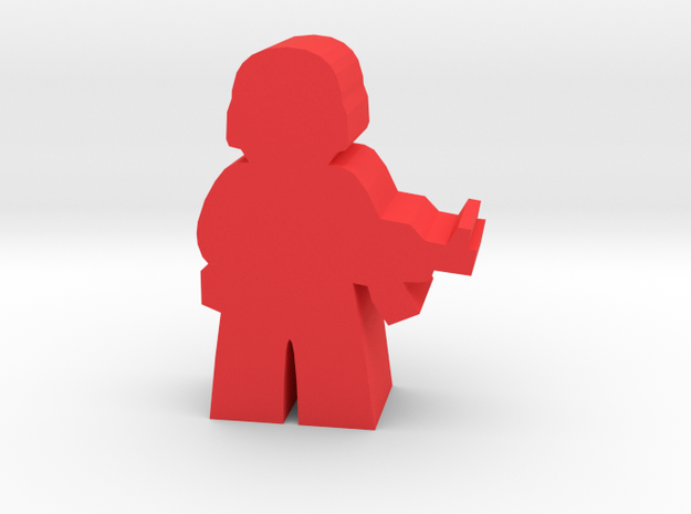 Game Piece, Red Force Soldier in Red Processed Versatile Plastic