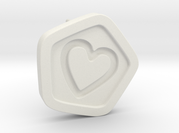 3D Printed Bond What You Love Stud Earrings in White Strong & Flexible