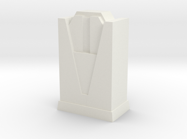 Custom Monopoly Hotel Version 4 (3cm tall) in White Natural Versatile Plastic