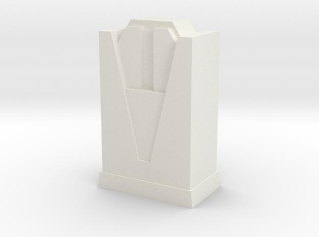 Custom Monopoly Hotel Version 4 (3cm tall) in White Natural Versatile Plastic