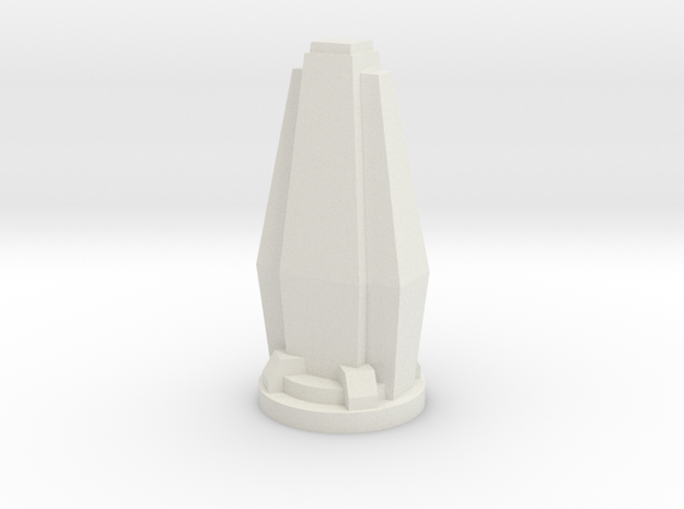 Custom Monopoly Hotel Version 6 (3cm tall) in White Strong & Flexible