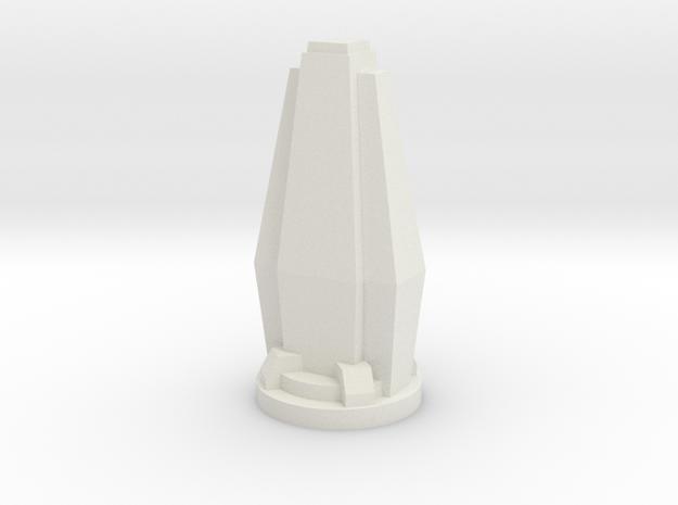 Custom Monopoly Hotel Version 6 (3cm tall) in White Natural Versatile Plastic
