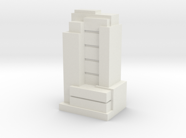 Custom Monopoly Hotel Version 8 (3cm tall) in White Natural Versatile Plastic