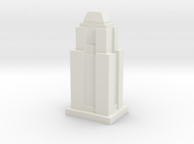 Custom Monopoly Hotel Version 9 (3cm tall) in White Natural Versatile Plastic