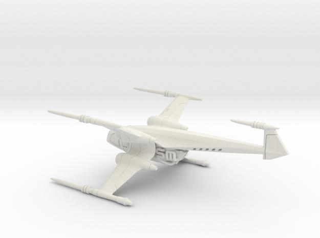 Delcon X spaceship - Concept Design Quest in White Natural Versatile Plastic