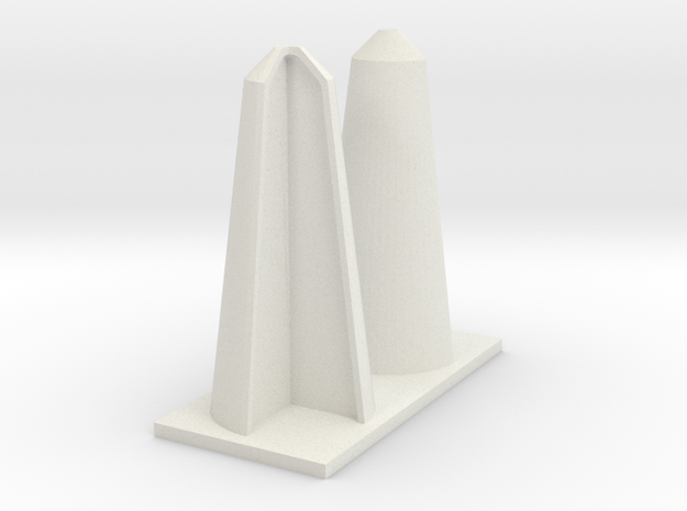 TALL CORNER BOLLARDS in White Natural Versatile Plastic