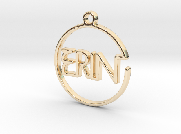 ERIN First Name Pendant in 14k Gold Plated Brass