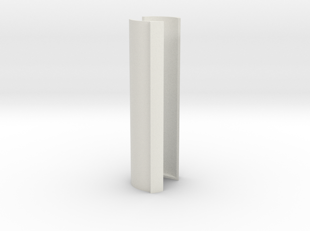 Teensy Lightsaber Battery Holder in White Natural Versatile Plastic