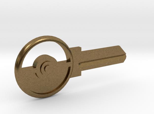 Pokeball House Key Blank - SC1/68 in Natural Bronze