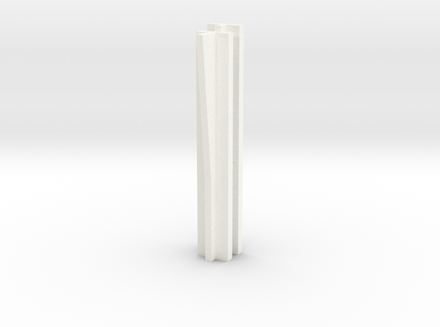 Set-1 Wall - Connector with Angled Rib in White Processed Versatile Plastic